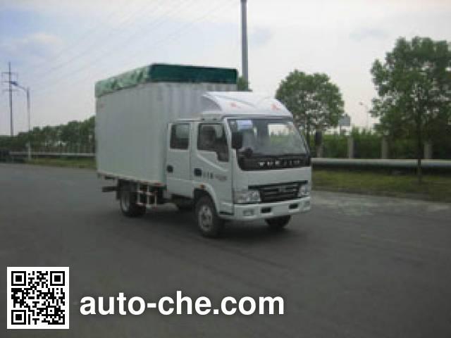 Yuejin NJ5041CPYDBFS5 soft top box van truck