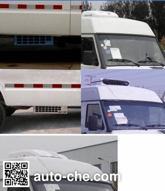 畅达牌NJ5049XLC4A冷藏车