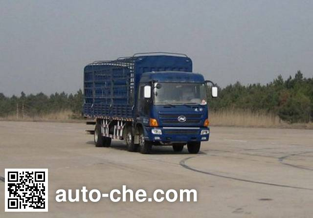 凌野牌NJ5250C-DCW1仓栅式运输车