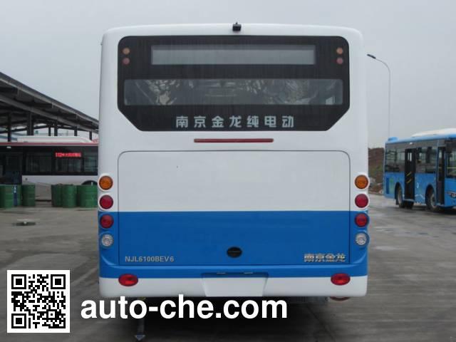 开沃牌NJL6100BEV6纯电动城市客车