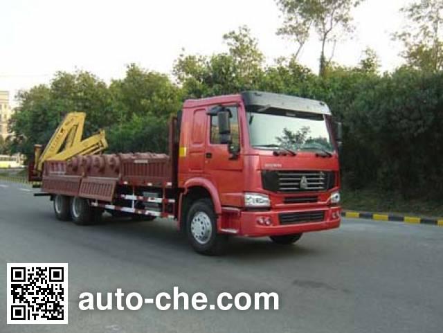 凌扬(FXB)牌PC5253JSQ随车起重运输车