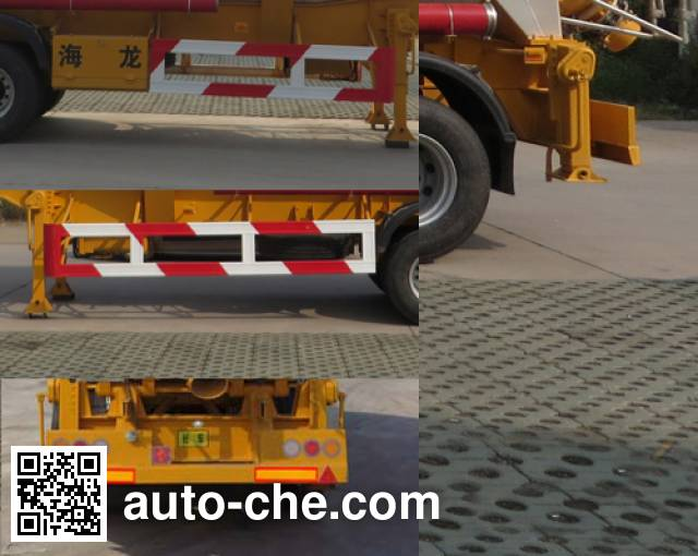 Haifulong PC9401GFLD medium density bulk powder transport trailer