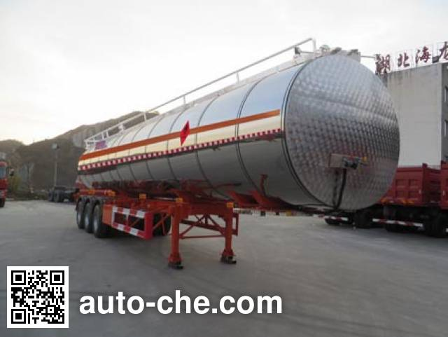 Haifulong PC9404GRYG flammable liquid tank trailer