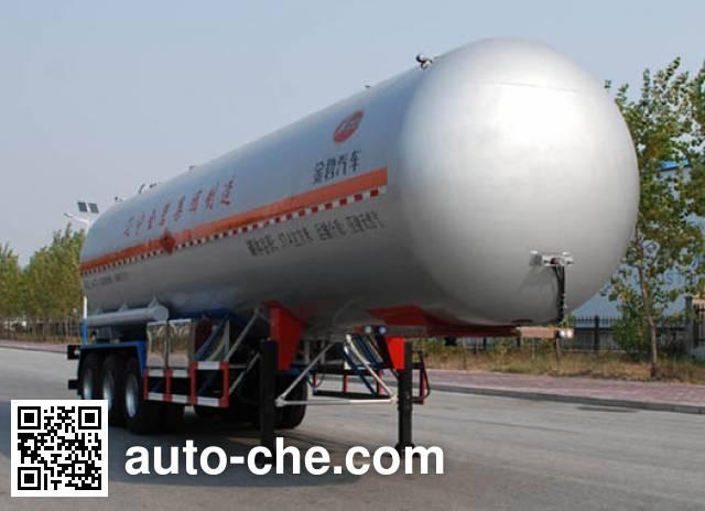 Jinbi PJQ9340GRQ flammable gas tank trailer