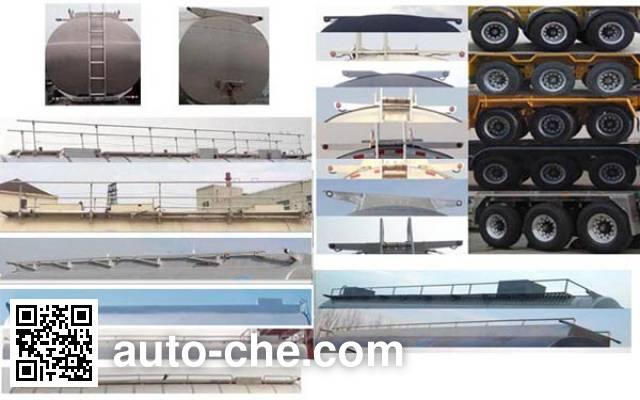 Jinbi PJQ9401GFW corrosive materials transport tank trailer