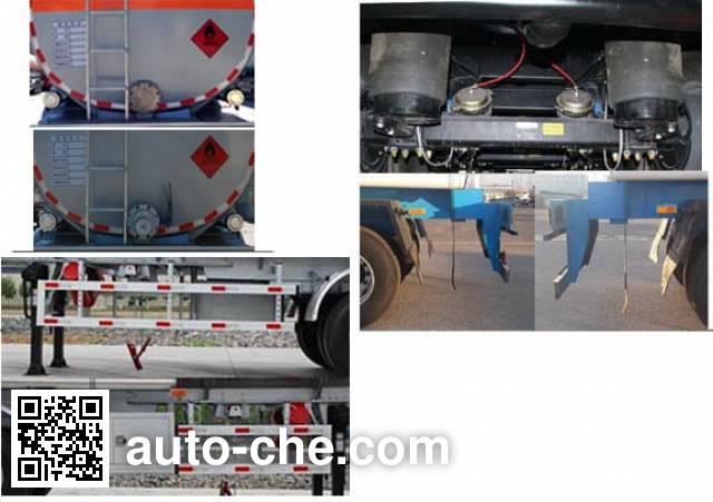 Jinbi PJQ9401GRYD flammable liquid tank trailer