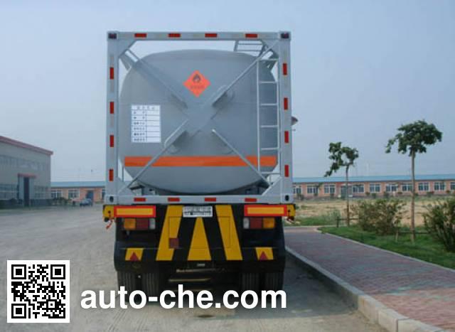 Jinbi PJQ9402GHY chemical liquid transport frame tank trailer