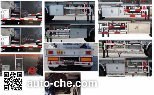 Jinbi PJQ9402GRYL flammable liquid aluminum tank trailer
