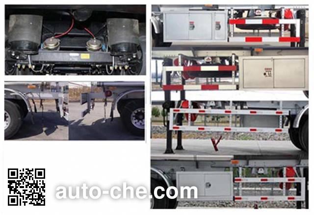 Jinbi PJQ9404GYYL aluminium oil tank trailer