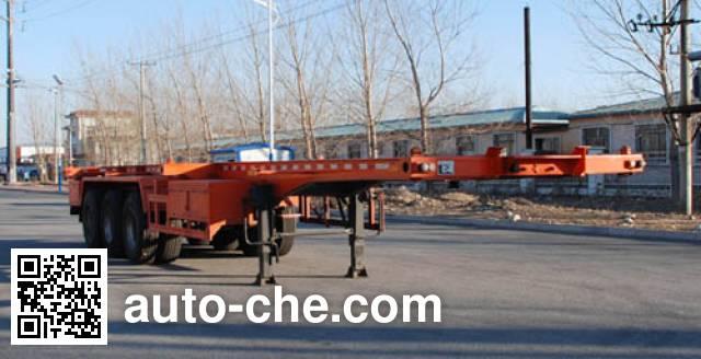 Jinbi PJQ9405TWY dangerous goods tank container skeletal trailer
