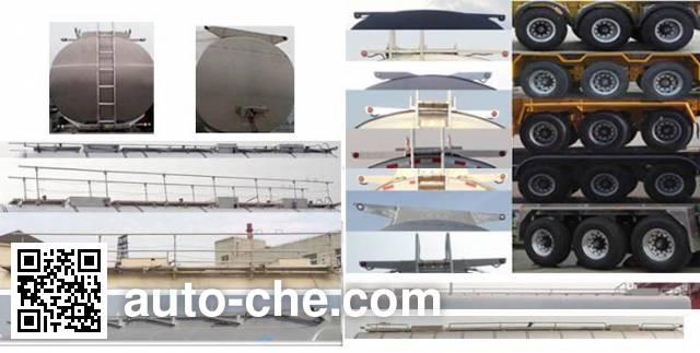 Jinbi PJQ9406GYYL aluminium oil tank trailer