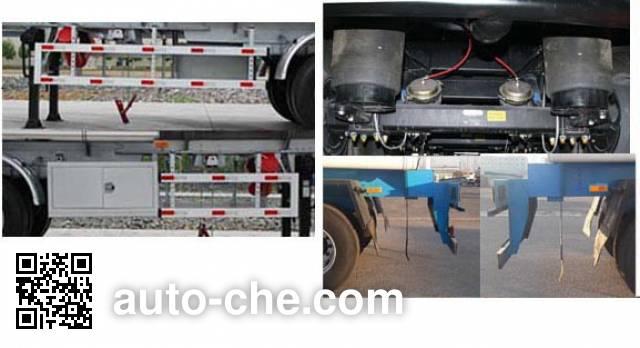 Jinbi PJQ9407GRYL flammable liquid aluminum tank trailer