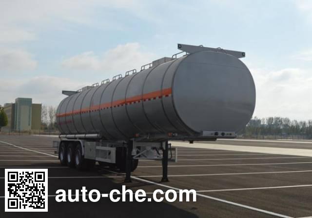 Jinbi PJQ9408GRYL flammable liquid aluminum tank trailer