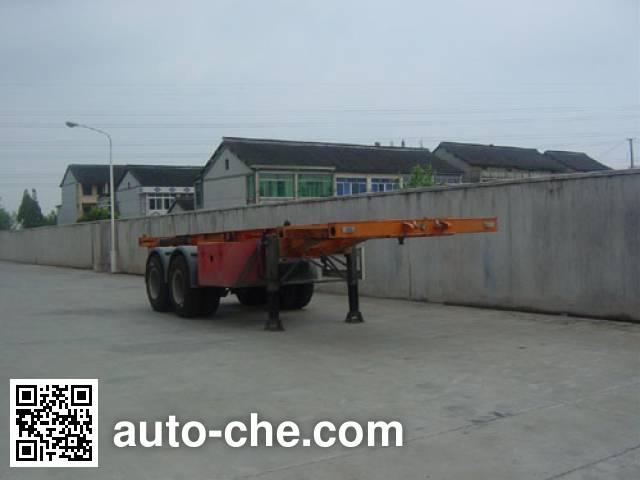 琴岛牌QD9290TJZ骨架式集装箱运输半挂车