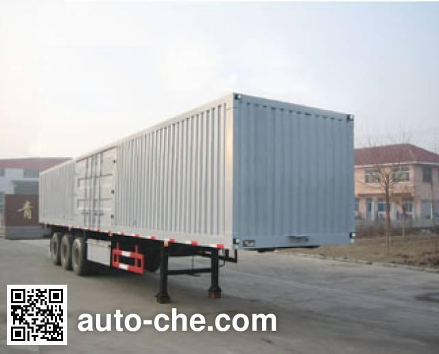 Huachang QDJ9400XXY box body van trailer