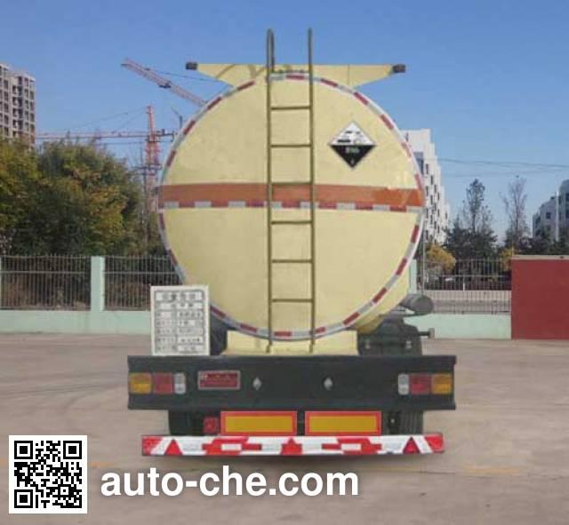 Huachang QDJ9402GFW corrosive materials transport tank trailer