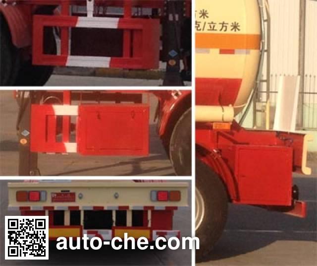 华昌牌QDJ9404GFW腐蚀性物品罐式运输半挂车