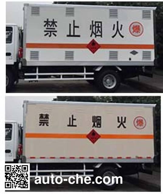 庆铃牌QL5040XRYA5HAJ易燃液体厢式运输车