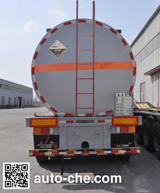 旗林牌QLG9400GFW腐蚀性物品罐式运输半挂车