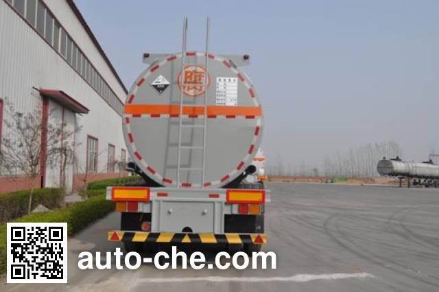 旗林牌QLG9401GFW腐蚀性物品罐式运输半挂车