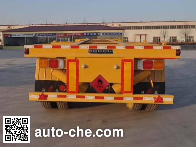 Qilin QLG9401TWY dangerous goods tank container skeletal trailer