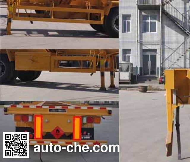 Qilin QLG9402TWY dangerous goods tank container skeletal trailer