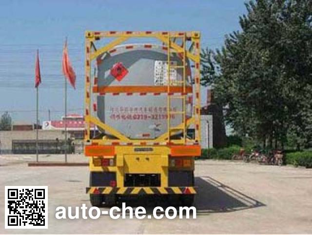 Qilin QLG9403GHYK chemical liquid transport frame tank trailer