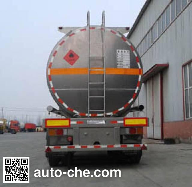 Qilin QLG9404GRYB flammable liquid aluminum tank trailer