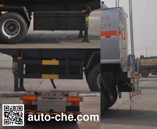 旗林牌QLG9406GFW腐蚀性物品罐式运输半挂车