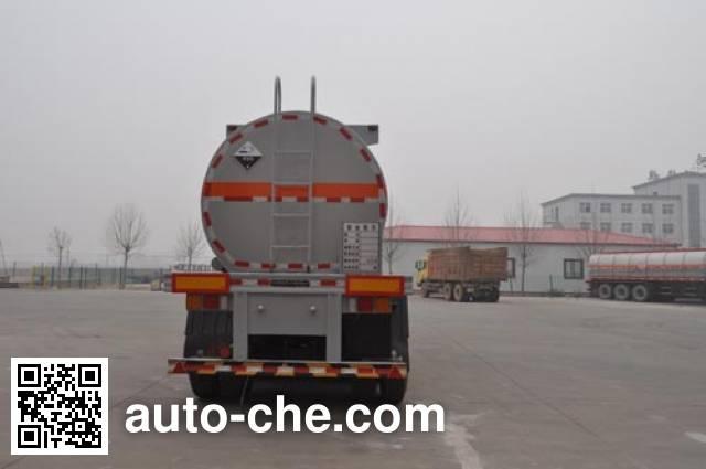 旗林牌QLG9407GFW腐蚀性物品罐式运输半挂车