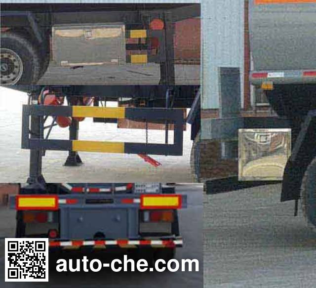 旗林牌QLG9408GFW腐蚀性物品罐式运输半挂车