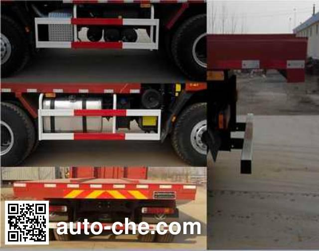 荣沃牌QW3253平板自卸车