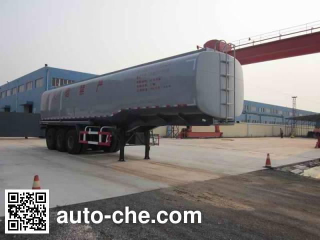荣沃牌QW9401GRY易燃液体罐式运输半挂车