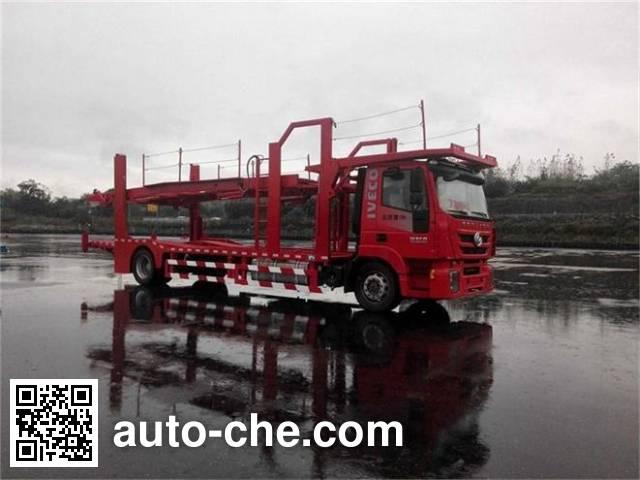 Zhongte QYZ5180TCL681 car transport truck