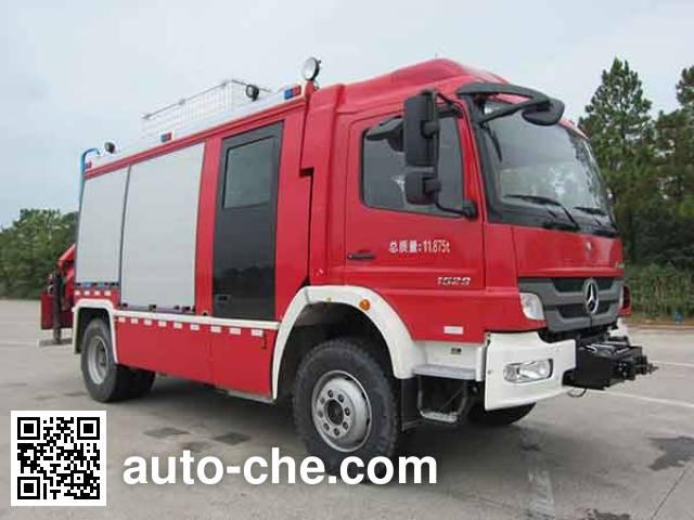 永强奥林宝牌RY5122TXFJY100/A抢险救援消防车