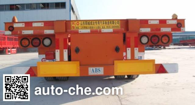 成事达牌SCD9405TJZ集装箱运输半挂车