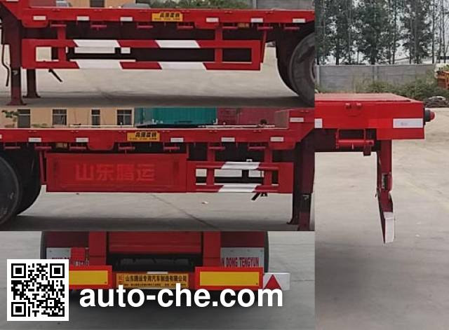 Yuntengchi SDT9400TPBE flatbed trailer