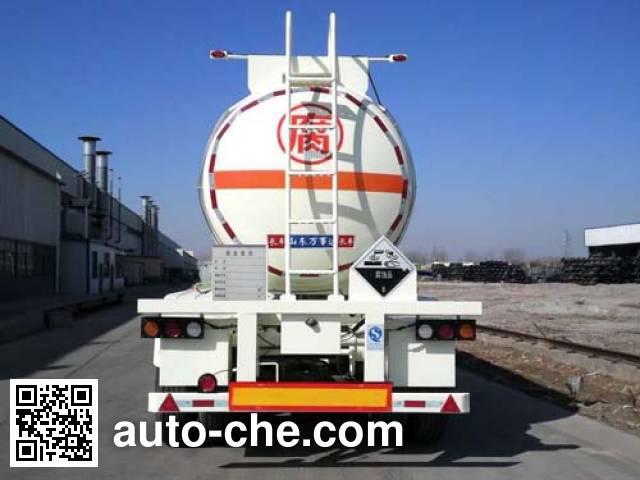 万事达牌SDW9400GFW腐蚀性物品罐式运输半挂车