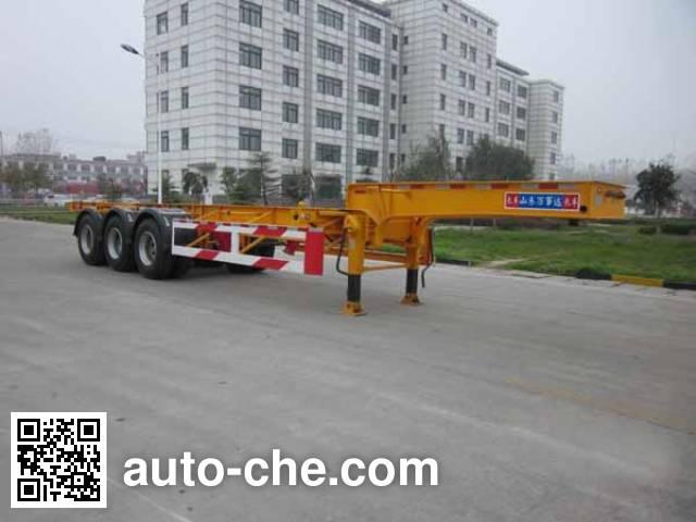 Wanshida SDW9400TWY dangerous goods tank container skeletal trailer