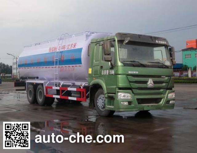 Sinotruk Huawin SGZ5250GFLZZ4W58 low-density bulk powder transport tank truck