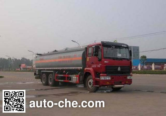 Sinotruk Huawin SGZ5250GHYZZ3J44 chemical liquid tank truck