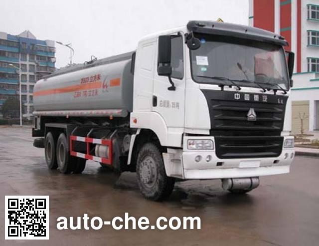 Sinotruk Huawin SGZ5250GHYZZ3Y46 chemical liquid tank truck