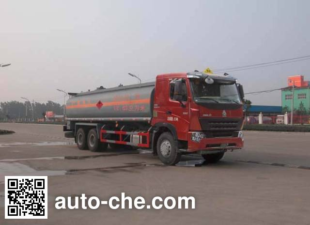 Sinotruk Huawin SGZ5258GHYZZ3W581 chemical liquid tank truck