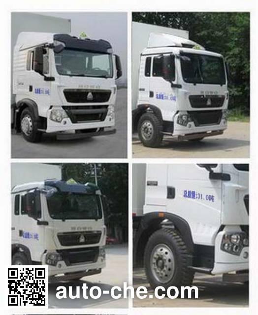 Sinotruk Huawin SGZ5310XRYZZ5T5 flammable liquid transport van truck