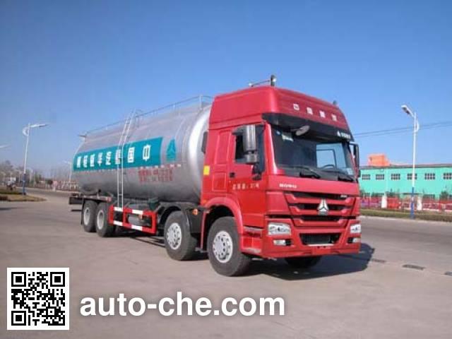 华威驰乐牌SGZ5310GFLZZ5W低密度粉粒物料运输车