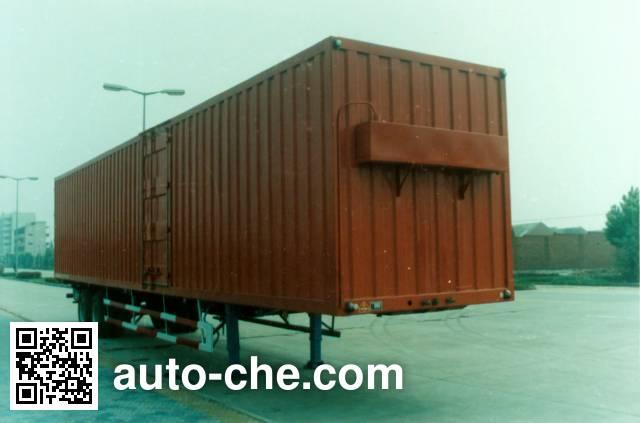 华威驰乐牌SGZ9200XXY-G厢式运输半挂车
