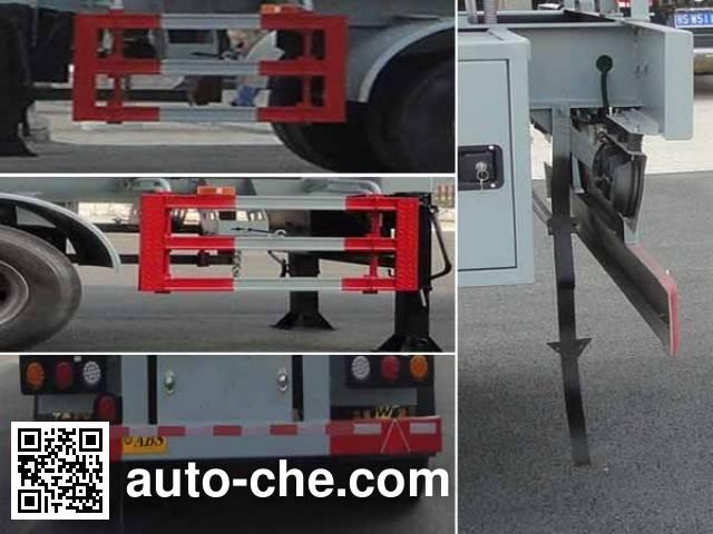 华威驰乐牌SGZ9350GFW腐蚀性物品罐式运输半挂车