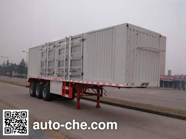 华威驰乐牌SGZ9400XXYA厢式运输半挂车