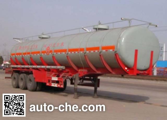 华威驰乐牌SGZ9403GHY化工液体运输半挂车