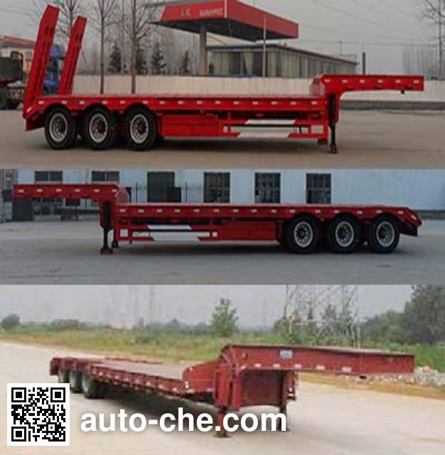 红荷北斗牌SHB9400TDP低平板半挂车